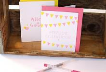 Letterpress Glückwunschkarten