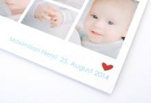 Geburtskarte für Maximilian Henri