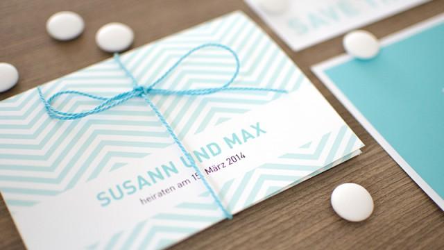 Hochzeitspapeterie für Susann und Max