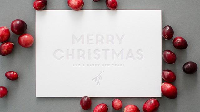 Letterpress Weihnachtskarte 2015